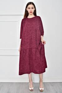 Платье длинное однотонное повседневное Т9064