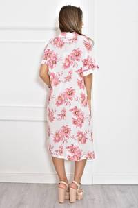 Платье длинное летнее с принтом Т6604