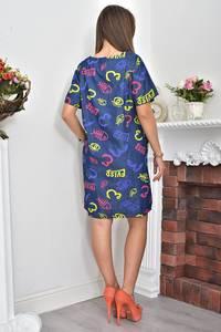Платье-туника короткое летнее с принтом Ф0066