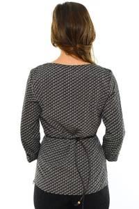 Блуза черная офисная М8898