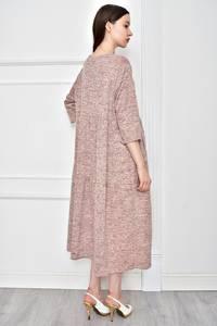 Платье длинное однотонное повседневное Т9065