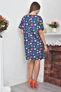 Платье-туника короткое летнее с принтом Ф0067
