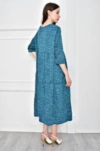 Платье длинное однотонное повседневное Т9066