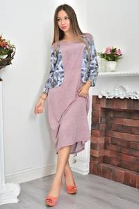 Платье трикотажное с принтом Ф0068