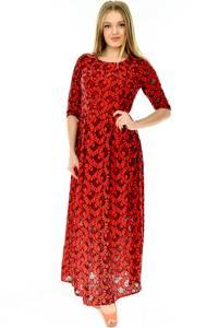 Платье длинное красное нарядное П4282