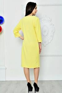 Платье короткое летнее желтое П8362