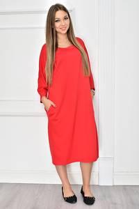 Платье длинное красное повседневное У7791