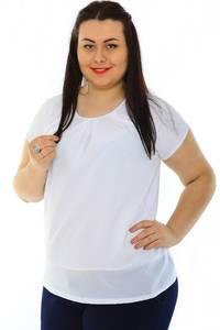 Блуза белая вечерняя Н3215