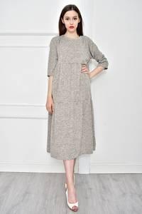 Платье длинное однотонное повседневное Т9068