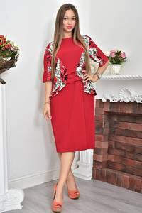 Платье нарядное красное Ф0069