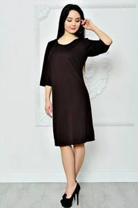 Платье короткое летнее черное П8364