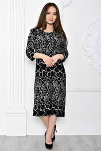 Платье длинное вечернее черное Т0643