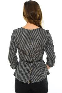 Блуза черная офисная М8902