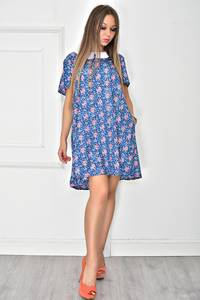 Платье короткое с принтом летнее У7879