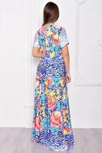 Платье длинное летнее с принтом С9038