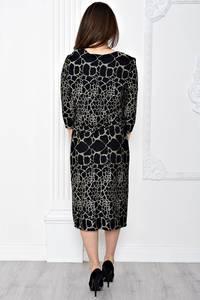 Платье длинное вечернее черное Т0644