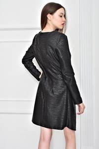 Платье короткое облегающее черное Т9070