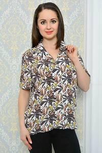 Рубашка с коротким рукавом с принтом П9518