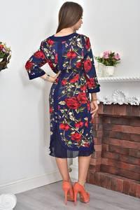 Платье длинное нарядное с принтом Ф0072