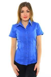 Рубашка синяя с коротким рукавом М8906