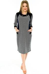 Платье длинное офисное с длинным рукавом П4289