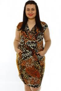 Платье короткое с коротким рукавом трикотажное Н3220