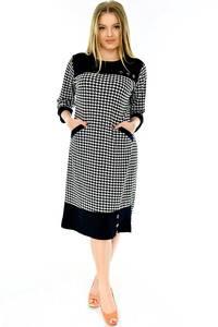 Платье длинное офисное с длинным рукавом П4290