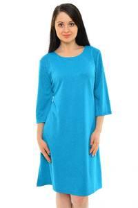Платье длинное деловое голубое М5493