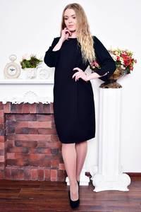 Платье короткое вечернее черное Р9008