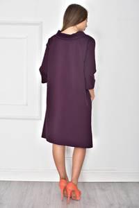 Платье короткое однотонное классическое У7884