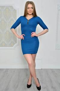Платье короткое повседневное облегающее Р0784