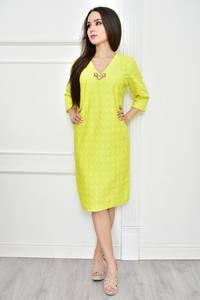 Платье короткое летнее желтое Т7773