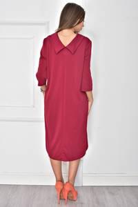 Платье короткое однотонное классическое У7885