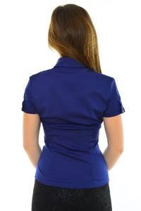 Рубашка синяя с коротким рукавом М8908