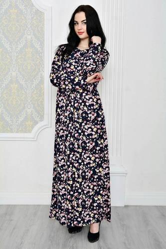 Платье длинное зимнее нарядное Р1885