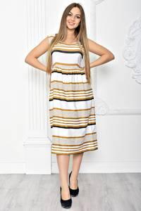 Платье длинное повседневное в полоску Т2384