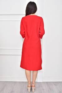 Платье короткое летнее красное Т7774