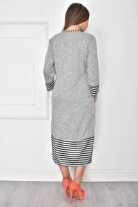 Платье длинное трикотажное повседневное У7886