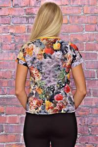 Блуза с цветочным принтом с коротким рукавом Т6192