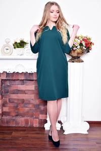 Платье длинное вечернее зеленое Р9011