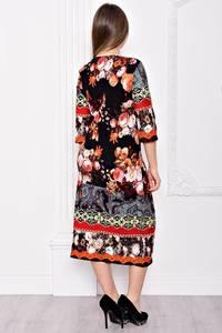 Платье длинное вечернее с принтом С9046