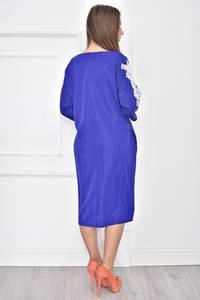 Платье короткое однотонное с кружевом Т7447