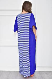 Платье длинное летнее с коротким рукавом У7739