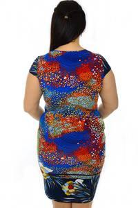 Платье короткое с коротким рукавом нарядное Н3223