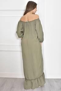 Платье длинное летнее однотонное Т6692