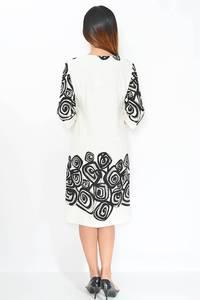 Платье длинное с принтом белое М1655