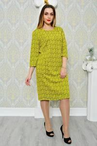 Платье длинное зимнее желтое П9695