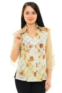 Рубашка с принтом с коротким рукавом М5500