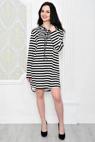 Платье-туника короткое с принтом повседневное Р1890
