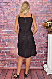 Платье короткое черное летнее Т6194